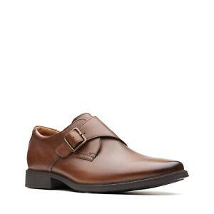 NEW Clarks Tilden Buckle Dress Shoes Dark Tan Brown 11.5 WIDE 45 STORE RETURN