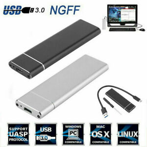 NGFF/NVMe SSD USB3.1 Type-C to M.2 Hard Disk Case Adapter External Enclosure Box