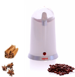 Electric Coffee Grinder 160W Bean, Spice and Nut Mill Blender White