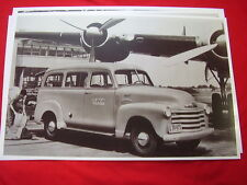 1953 CHEVROLET SUBURBAN CARRYALL 3100 TWA AIRLINES   11 X 17  PHOTO /  PICTURE
