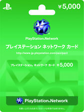 PlayStation Network Card 5000 YEN Card - For JPN PSN / PS+ PS4 PS3 VITA PSP