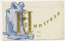 THE HUNTRESS VAUDEVILLE ART NOUVEAU TRADE CARD **NOW ON SALE** TC1650