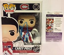 CAREY PRICE SIGNED MONTREAL CANADIENS FUNKO POP VINYL FIGURE 06 NHL AUTO JSA