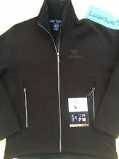 ARCTERYX WOOL CARDIGAN GOLD ZIP  WOMENS L XL CAROB BROWN SWEATER JACKET WINTER
