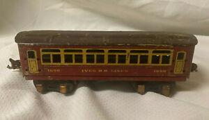Ives Trains Prewar 1690 Passenger Car O Scale