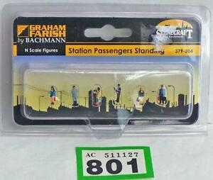 G801 Bachmann Farish Scenecraft 379-304 Station Passengers Standing figures N