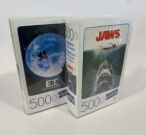 BLOCKBUSTER VIDEO - ET & JAWS - 500 PIECES JIGSAW Puzzle Bundle (45 x 60cm) NEW