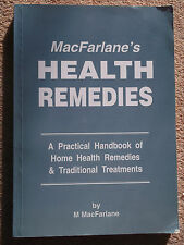 MACFARLANES HEALTH REMEDIES BY M MACFARLANE 1995 PAPERBACK BOOK