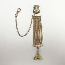 Vest Pocket Watch Fob Stamp Medallion e716 Antique Gold Filled Multi-Chain Fob