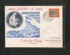 Germania Posta Nave Busta 1973 Giorno Flotta Rompighiaccio EISBÄR Isola Borkum