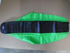 FLU KAWASAKI PLEATED GRIPPER SEAT COVER KX450F KX250F 2006 2007 2008  black/grn