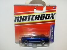 Matchbox Superfast 2010 No 7 2007 Ford Shelby GT500 Blue MIB