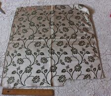 Antique French Lyon Silk Brocade Fabric Sample c1890-1900~Climbing Roses*HomeDec