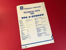 HUSQVARNA • OEM NOS 1983 Technical Data Poster 1983 83 500 TC 510 TE TX 4-Stroke