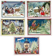 EDITION TAUSENDSCHÖN*Postkarte*Weihnachten*Nostalgie*Häuser*Schlitten*Santa*A6*
