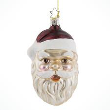Inge Glas  Santa Knows All 1-047-01 German Glass Christmas Ornament