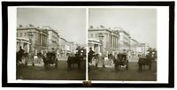 UK Londra Piccadilly Animato c1900 Foto Placca Stereo Vintage