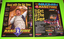 """Midway Set Of (2) NOS Video Arcade Game Posters 28"""" X 22"""" Hang Time & Maximum"""