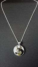 """Husky Dog Pendant On 18"""" Silver Plated Fine Metal Chain Necklace Gift N514"""