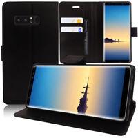 "Etui Housse Coque Portefeuille Support Video NOIR Samsung Galaxy Note 8 6.3"""