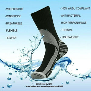 NEW Quality MEN'S Waterproof, Windproof, Breathable (Masah-Wudu) Socks
