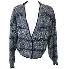 Vintage 80's Anchor Blue Cardigan 2 Button Sweater Gray Knit Cotton Mens M