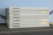 "7 AMPEX 406 2500' tapes on 10.5"" 1/4"" NAB metal reels, music on some tapes"