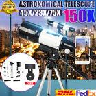 150X70mm Kids Aperture Astronomical Telescope Refractor Tripod Finder Beginners