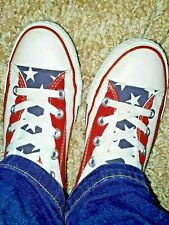 CONVERSE ALL STARS STRIPES USA FLAG HI TOP BASEBALL BOOTS TRAINERS SIZE UK 5.5