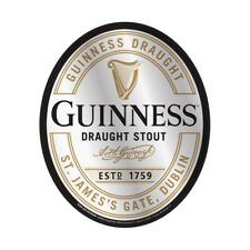 Guinness Label Oval Mirror