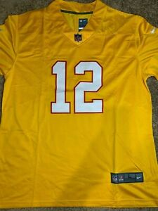 Tom Brady #12 Rare Throwback Tampa Bay Buccaneers Jersey Size L Large Bucs