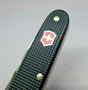 Victorinox 93mm Pioneer Black Alox with Red Shield Swiss Army Knife