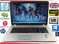 """17.3"""" HP Envy 17 Gaming Laptop Intel i7 Quad 16GB 240GB SSD + HDD GeForce Win10"""