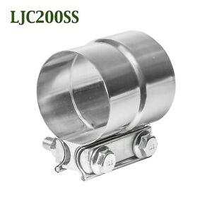 """LJC200SS 2"""" Lap Joint Seal Exhaust Clamp Bear River Quality Stainless Steel"""