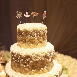 24Pcs Truck Tractor Car Cowboy Theme Cupcake Picks Cake Topper Baby Shower