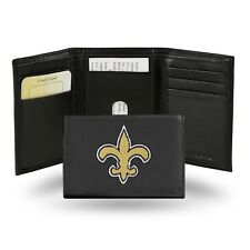 New Orleans Saints NFL Team Logo Embroidered Leather TRIFOLD Wallet