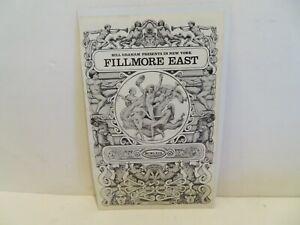 Fillmore East '69 Program Cover by  David Byrd