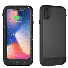 For iPhone X Waterproof Battery Case,3400mAh Rechargeable Charging Cover Case US
