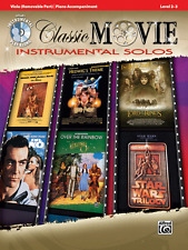 CLASSIC MOVIE INSTRUMENTAL SOLOS FOR VIOLA W/PIANO ACC. MUSIC BOOK/CD-NEW SALE!!