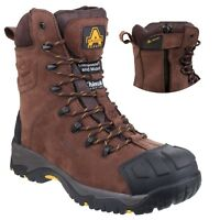 Amblers AS995 PILLAR Brown Waterproof Safety Work Boot Side Zip |6-14|