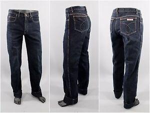 1980's Vintage Women's Calvin Klein Jeans, Black, High Waist, 32x35, Made in USA