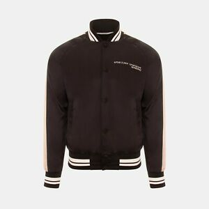Valentino Always Sequin Satin Bomber Jacket In Black RRP £995 SOLD OUT WORLDWIDE