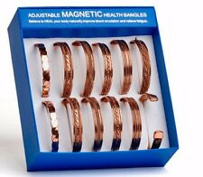 Set of 12 Tibetan Copper Bracelets Magnetic India Pattern Women's Men's
