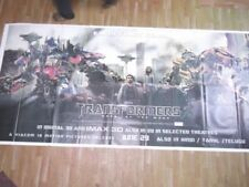 TRANSFORMERS dark of moon 2011 ENGLISH Orig Promo 6 SIX SHEET POSTER INDIA HUGE