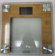 HoMedics Bamboo Digital Bathroom Scale Modern Design