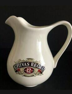 "Vintage Chivas Regal Scotch Whiskey Ceramic Pitcher Jug 7"" Tall Great Condition"