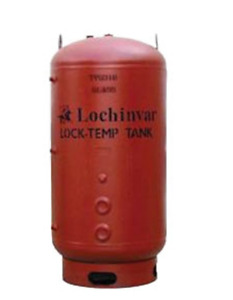 "Lochinvar TVG257 257G Glass Lined Vertical Storage Tank Uninsulated 88""H X 30""D"