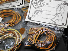 Vintage lot new old stock 6 cool hippie 60s leather rawhide bundle strips F19