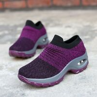 Womens Walking Sports Athletic Breathable Casual Sneakers Increase Gym Shoes