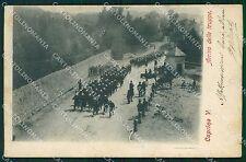 Verona Caprino Veronese Militari cartolina QT4553